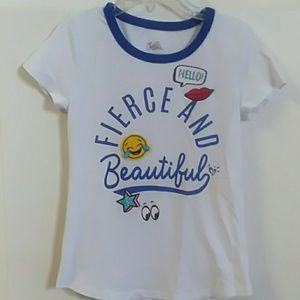 Girls short sleeve Justice tee size 7